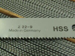 "6 FEIN #Z22-9 HSS Hacksaw Blades 8""L X 8T/in. for industrial reciprocating saw"