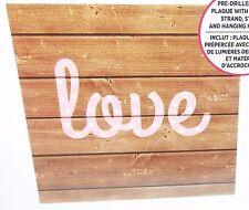 LED Light Up Wood Plaque Kit LOVE Wedding Shower Home Decor BNIP