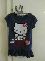 Blue Hello Kitty T-Shirt Top - 9 years