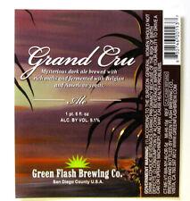 Green Flash Brewing GRAND CRU ALE beer label CA 12 oz