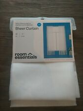 Room Essentials White Sheet Curtain Panel 60x84