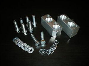 Gearbox Lowering Blocks + Fitting Bolts Escort MK1 MK2