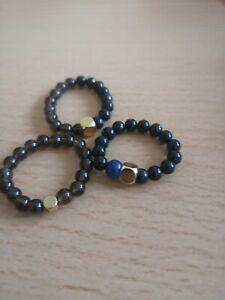 Shungite Ring Stretch Stack Russian Shungite Bracelet Shungite Earrings Free pos