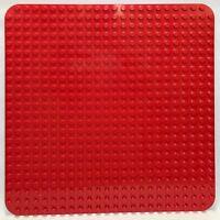 Genuine LEGO Duplo Red Base Plate Board 24 x 24 Stud Clean