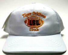 Vtg Lsu Tigers 90s Gridiron Club Football Hat White Purple Gold Adjustable Nwt