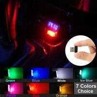 Mini USB LED Car Light Interior Mood Neon Atmosphere Ambient Lamp Bulb Wireless