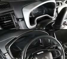 Carbon fiber look interior meter dashboard cover For Honda CRV CR-V 2017 2018