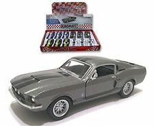 "Kinsmart Display 1967 Shelby Gt-500 With Stripes 1:38 - 4.8"" Diecast Car Grey"