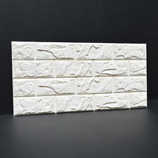 20 rolls 3D effect Stone Brick Wall Textured Vinyl Wallpaper Self-adhesive Safe
