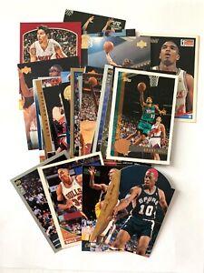 Lot 30 rare parallels: Grant Hill, Parish, Drexler, Rodman, Kidd, Smith Platinum