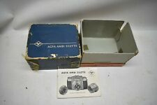 Nice Vintage Used Rare Agfa Ambi Silette 35mm Rangefinder Camera Manual Box ONLY
