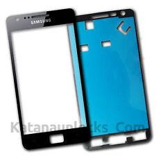 Schermo Vetro per Samsung Galaxy S2 I9100 Nero Touch Screen Biadesivo
