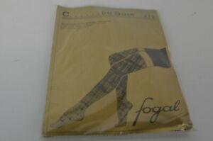New Fogal Women's Garter Stockings Size Small Soft Pink Du Soir 212 Career Fun