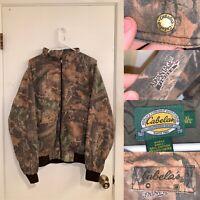 Cabelas Jacket Mens Size XL Camo Barn Jacket Full Zip Pockets Advantage Timber