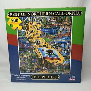 Best of Northern California 500 Piece Jigsaw Puzzle Dowdle Folk Art, BrandNew!