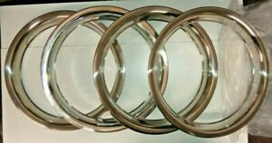 """Set of 4  Chrome Trim Rings for 14"""" Rostyle Steel Wheels MGB MGC"""
