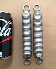 """.138"""" Stainless Steel Wire Swivel Hook Extension Spring Lot Of 2"""