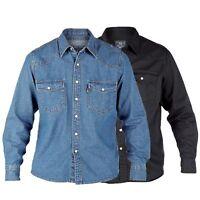Mens Denim Shirts By D555 Duke Big King Size