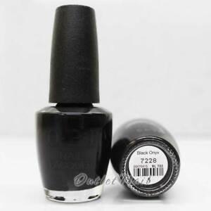OPI Nail Lacquer Polish - NL T02 BLACK ONYX 15mL/ 0.5oz Black Color NLT02