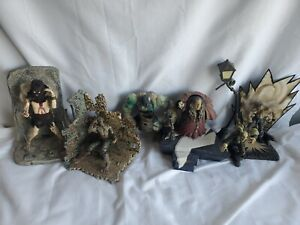 Vintage Horror Figure Lot 6 Figures And Accessories
