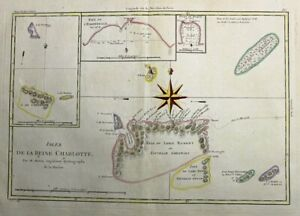 1788  Bonne Map of Santa Cruz Islands, Pacific