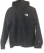 The North Face HyVent Womens Black Hooded Jacket Size Medium M Shell Waterproof