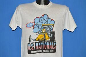 vtg70s NHRA US NATIONALS INDIANAPOLIS INDIANA 1978 DRAG RACE t-shirt SMALL S