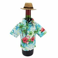 NWT Celebrate Summer Together Tropical Shirt Wine Bottle Cover