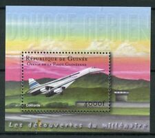 Guinea 2002 MNH Concorde 1v S/S Aviation Airplanes Planes Stamps