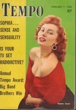 Tempo Digest February 7 1956 Sophia Loren Cheesecake Pin Up 091218AME2