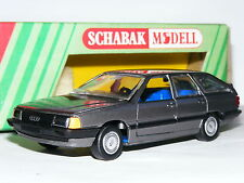 Schabak 1021 1983 Audi 100 Avant Quattro Metallic Grey 1/43