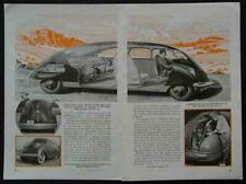 Stout Scarab Tommorow's Car 1942 vintage pictorial