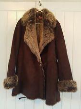 Monsoon Faux Fur Jacket Coat Size 12
