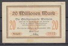 Weilheim  -  Stadtgemeinde  -  20 Millionen Mark