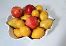 Fake fruit display , artificial apples, pears, lemons, pop decor, fruit display