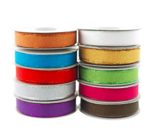 Christmas Gift Stain Ribbons Gold Silver Copper Metallic Woven Lame Berisfords
