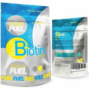 Urban Fuel Beauty Biotin 10000mcg Hair Skin & Nail Growth Supplement   365 Tabs