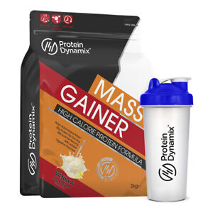 Protein Dynamix 2kg Mass Gainer High Calorie Weight Gain + Free Shaker - Vanilla