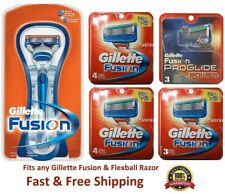 14 Gillette Fusion Razor Blades 11+3 Proglide Power Refill Cartridge Ft Flexball