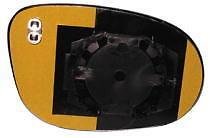 Fiat Bravo Dal 2007 > Vetro + Piastra Specchio Specchietto dx Termico Azzurrato