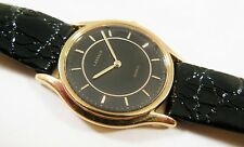 Lassale by Seiko Gold Tone Base Metal 1F20-1G70 Leather Sample Watch NON-WORKING
