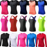 Womens Compression Workout Yoga Tops Running Jogging Vests Slim fit Gym Wicking