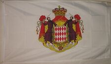 State Flag of Monaco 3x5 ft Coat of Arms Principality Monte Carlo Crest Shield