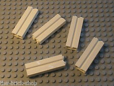 LEGO 5 white Bricks with Groove ref 88393 / Set 7498 5985 41101 10217 60004 4429