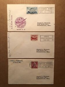 """32 DIFF. ANNIVERSARY, CENTENNIAL, ETC. """"SLOGAN"""" CANCEL COVERS POSTMASTER SIGNED"""