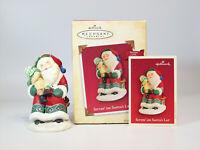 Hallmark Magic Ornament 2004 Sittin' On Santa's Lap - Recordable - #QLX7594-DB
