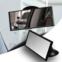 Wide Flat Universal Rear View Mirror Interior Car Adjustable  Suction w/