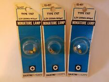 Lot of 6 Calectro Gc Electronics 1767 Midget Screw Miniature Lamps 2.5V 200mA