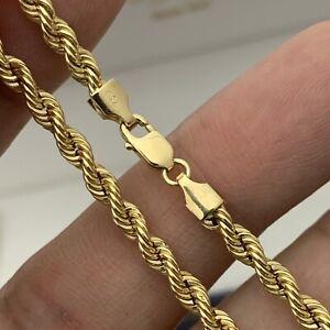 "18K Solid Yellow Gold 3.27MM Link 7 1/4"" Bracelet 2.67g"