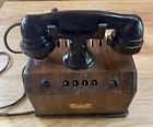 1930s Frost Fone executive telephone intercom multi line Wood Bakelite